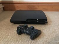 Sony PlayStation 3 Slim 120 GB Charcoal Black Console with controller and 8 games