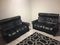 2 2 seater leather sofa chairs for sale