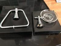 Towel ring and soap holder