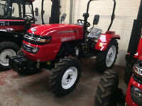 20 Hp 2 or 4 Wheel Drive, Diesel Compact Tractor. Brand New. 18 months warranty