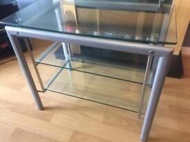 Glass shelf/ tv unit