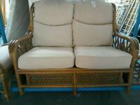 Conservatory sofa, chair, footstools, table #33607 £95