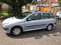 2004 Peugeot 206 SW 2.0 HDi S 5dr (a/c) Diesel Estate Family Car @07445775115