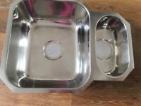 Stainless steel sink, new