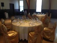 110 Gold satin universal chair covers