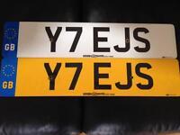 Y7 EJS personalised registration number