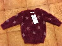 BRAND NEW girls jumper Age 1 1/2-2yrs