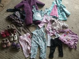 Bundle of baby clothes shoes