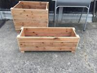 Wooden planter or storage box.