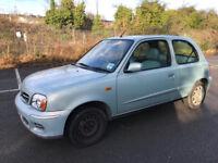 Nissan Micra for Sale, 2001, 12 months MOT