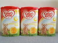 3 x Cow & Gate Milk