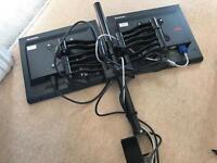Lenovo 1700p monitors x2 and desk stand