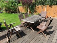 Wodden Garden Table and Chair