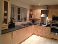 Complete Kitchen, includes double oven, fridge-freezer, hob wit extracted, dishwasher