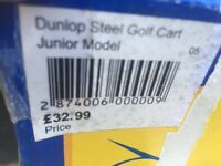 Dunlop Crazy Long Golf Clubs age 5-8 with trolley would fit age 10