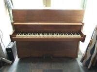 BENTLEY PIANO (IRON FRAMED, OVERSTRUNG, UNDER-DAMPENED) IN WALNUT CASE