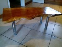 Live edge English cherry one off coffee table, choice of two