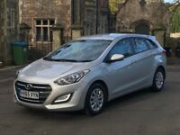 HYUNDAI i30 S BLUE DRIVE 1.6 CRDi TOURER ESTATE 2015 (65 PLATE) £20 ROAD TAX, 1 OWNER FROM NEW, FSH
