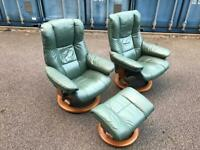 Ekornes Stressless Green armchairs Excellent Condition Possible Delivery