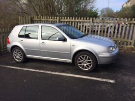 VW Golf Mk4 V5. Late 2000. Silver metallic. Black leather interior. Great condition inside and out.