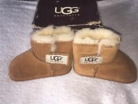 TAN BABY UGG BOOTS FOR 3 - 6 MONTHS excellent condition NEVER WORN!!! £25