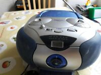 CD radio tape - with bass boost, portable hi fi