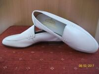 Brand New Mens Grenson 'Spring Gallant' white leather shoes size 8