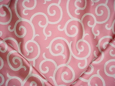 12Y Scalamandre 26691 Serendipity Raspberry Scroll Silk Damask Upholstery Fabric