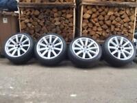 "18"" Genuine Audi Alloys, alloy wheels wide stanced, A7,A5, A4, A6, TT 5x112 VW golf Passat Stance"
