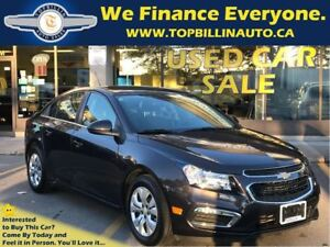 2015 Chevrolet Cruze LT Backup Cam, Bluetooth, Auto, Only 33K