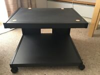 TV Stand with Shelf in Black