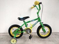 "(2158) 12"" RALEIGH Boys Girls Bike Bicycle + STABILISERS Age: 2-4, 85-100 cm"