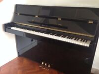 KAWAI KX-10 UPRIGHT ACOUSTIC PIANO IN POLISHED EBONY WITH ADJUSTABLE STOOL