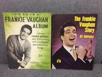Two rare magazines from the 1950s containing photo Frankie Vaughan Vintage retro rare SDHC