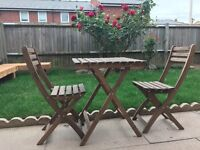 Garden Table and chair set- less than a year old