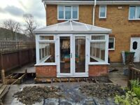 Upvc Conservatory - white with polycarbonate roof