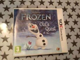 Nintendo 3DS game , Olaf's Quest , excellent condition in original case .