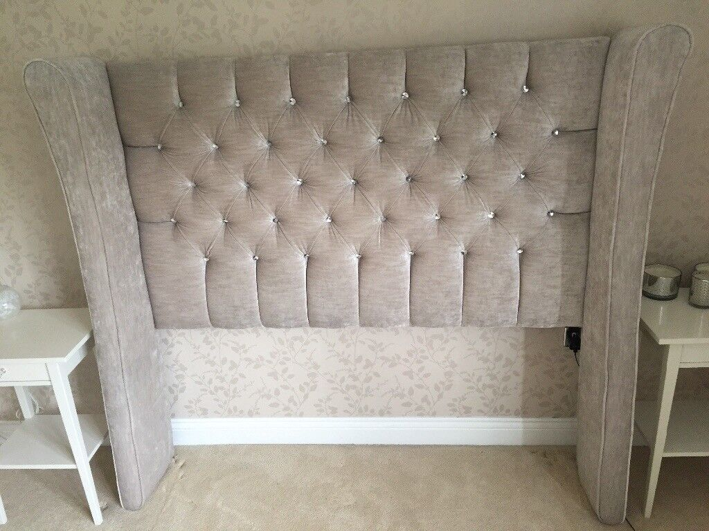 Beige Double Bed Freestanding Headboard In Falkirk Gumtree