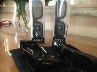 Sony 3D active glasses 4 in total coast £49.95 each