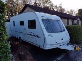 Sterling Eccles Jewel 2006 4 Berth Fixed Bed Touring Caravan with **MOTOR MOVER**