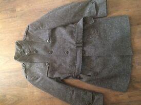 River island military style tweed coat