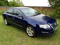 "2007 VOLKSWAGEN PASSAT SEL 2.0 TDI 170BHP MOT JUL 17 SWEDE/LEATHER 17"" ALLOYS S/HISTORY GREAT DRIVE"