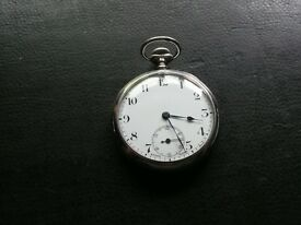 Vintage Solid Silver Pocket Watch