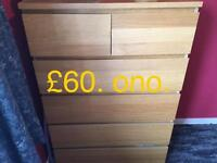 Ikea drawers one set of six