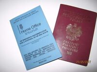 Missing foreign passport and Home Office document!