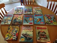Warlord and Victor vintage annuals