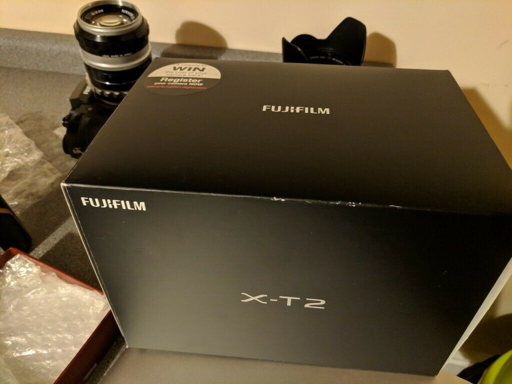 Fujifilm xt2 x-T2 18-55 OIS plus Nikon 50mm 1 4 + grip+ adaptors+ bag + sd  etc | in Old Street, London | Gumtree