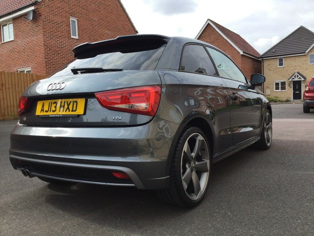 audi a1 s line black edition 2 0 tdi daytona grey low mileage 12 200 in soham. Black Bedroom Furniture Sets. Home Design Ideas