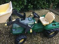 Childrens John Deere Tractor & Dumper