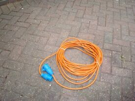 25 meter 240v hook up cable for outside use.